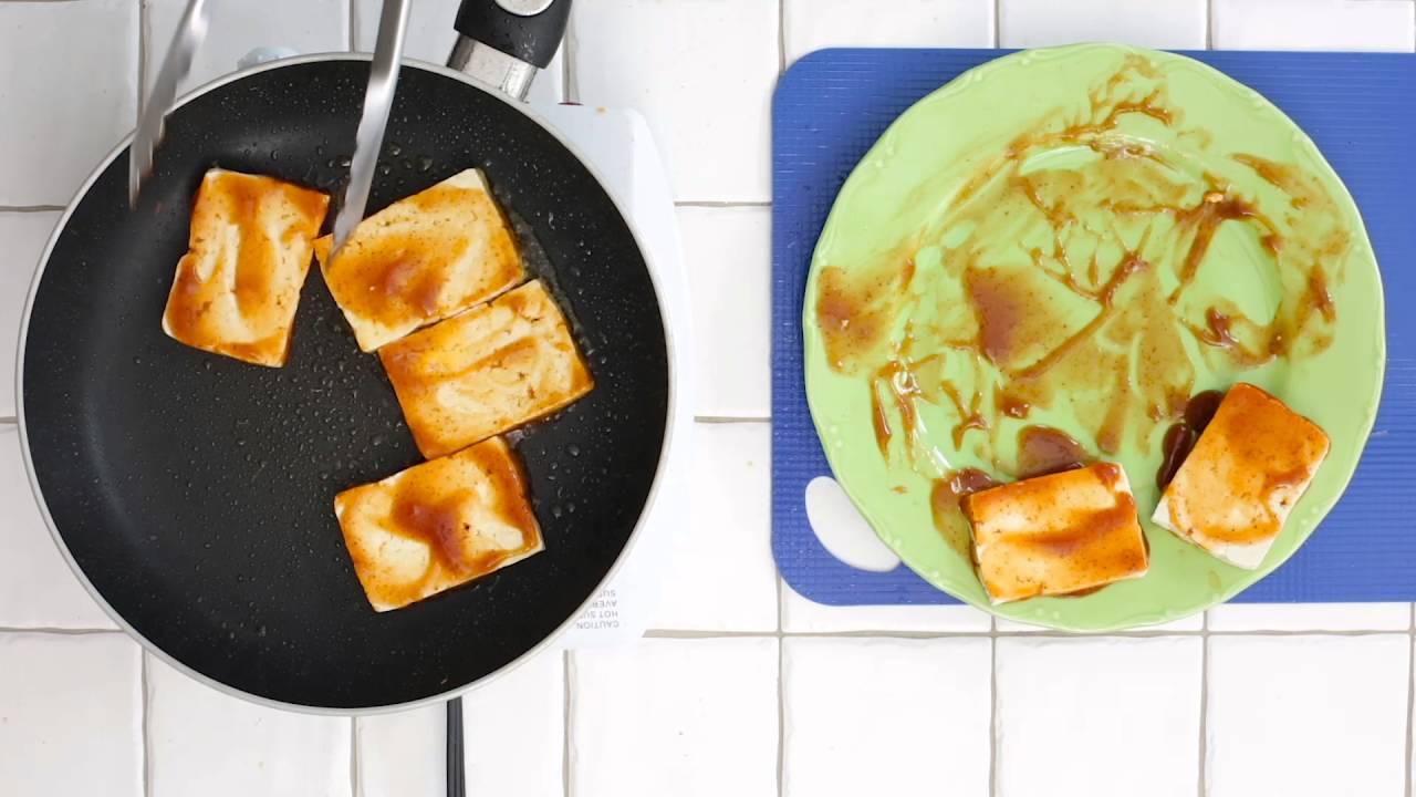 cuire et donner du goût au tofu - youtube