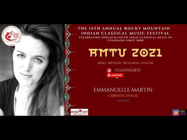 RMTU 2021: Emmanuelle Martin Creating Waves in Carnatic Music - Watch CFAA Mini Concert