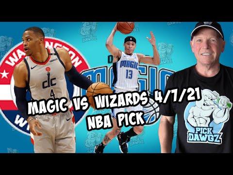 Orlando Magic vs Washington Wizards 4/7/21 Free NBA Pick and Prediction NBA Betting Tips
