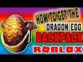 ROBLOX HOW TO GET DRAGON EGG BACKPACK ON PC! *NEW*