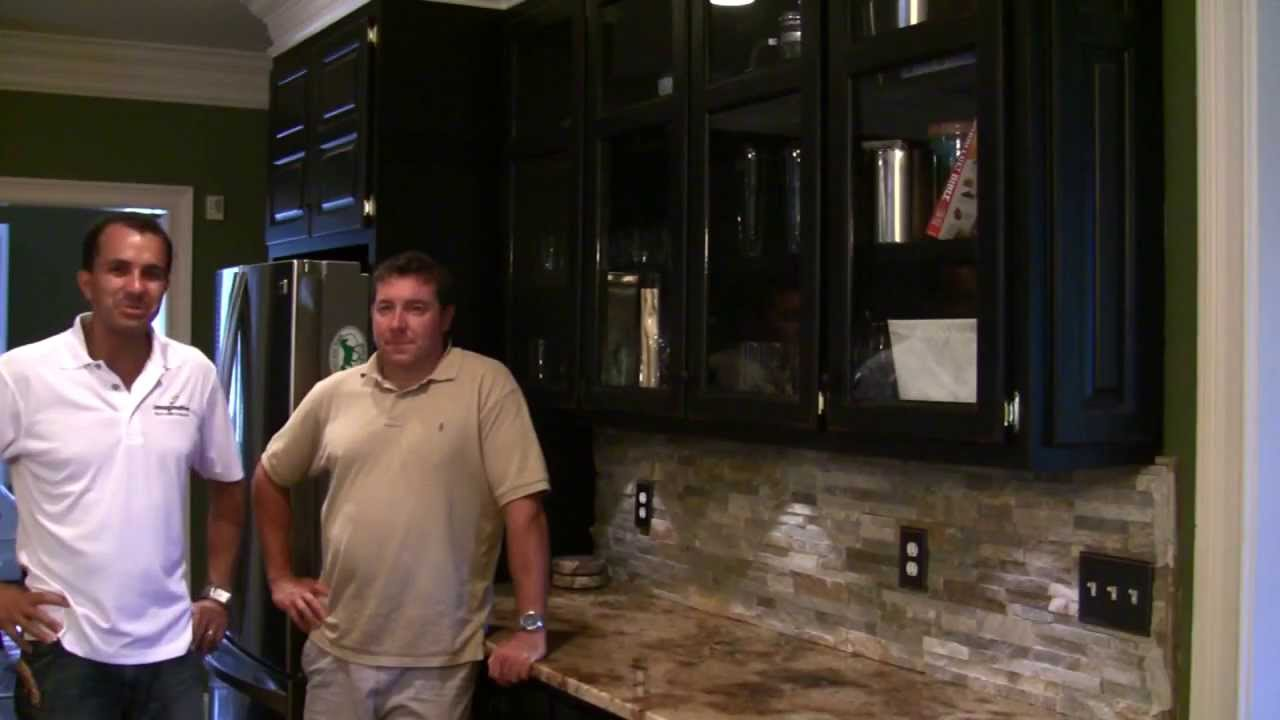 Stack Stone Kitchen Backsplash With Client Review   YouTube
