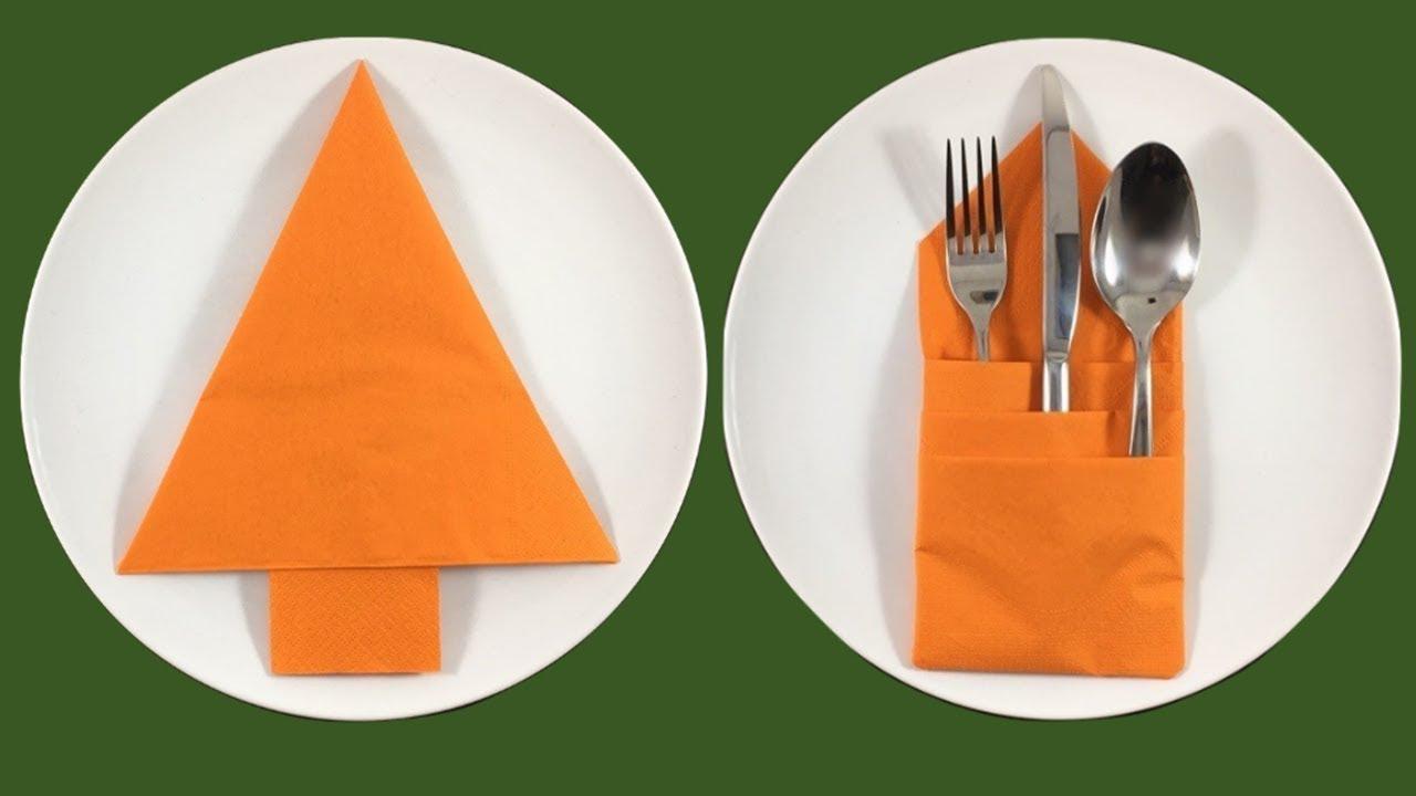 Come Piegare Tovaglioli Di Carta.Come Piegare Tovaglioli Di Carta Per Natale How To Fold A Napkin Christmas