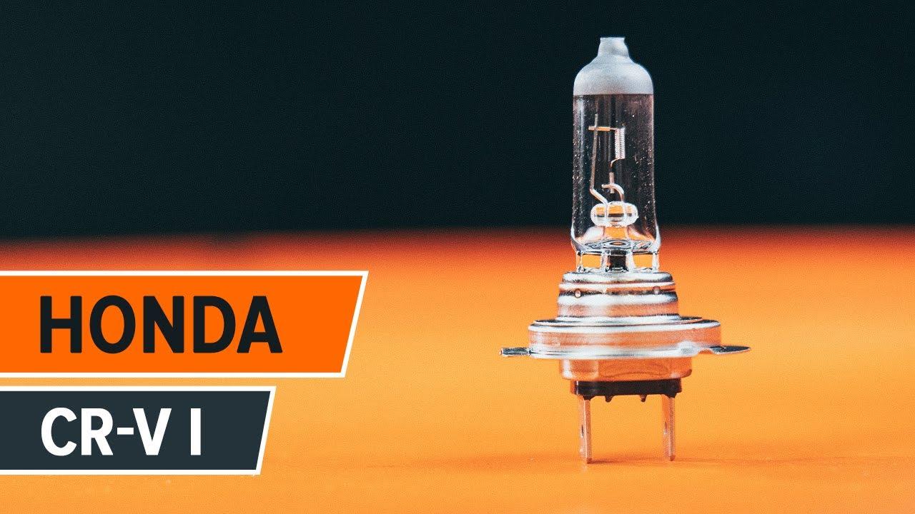 replace headlight lamp bulb honda cr   tutorial autodoc youtube