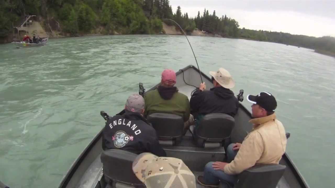 Alaska Salmon Fishing: Chuck\'s jumping Kasilof River King Salmon ...