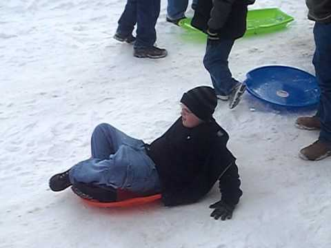 Kids Sled Riding