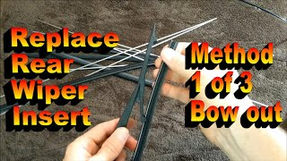 How to change rear wiper blade refill or insert - Option 1