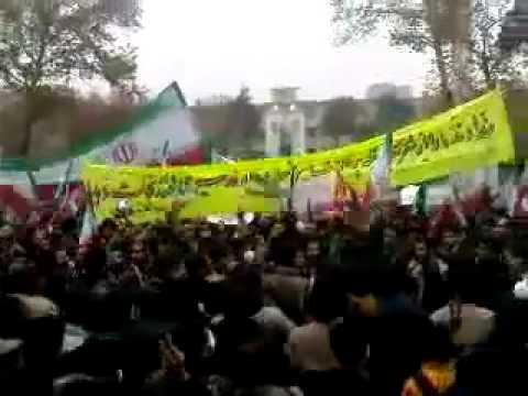 Iran Tehran Uni 8 Dec 09 (17 Azar) Protest P12