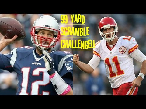 WHO CAN GET A 99YD QB SCRAMBLE FIRST?!? TOM BRADY VS ALEX SMITH!! SLOW ASF!!