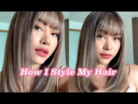 HOW I STYLE MY HAIR สอนเซ็ทผมหน้าม้า เซ็ทผมตรงให้สวยเหมือนไดร์ร้าน (VVALENTINES)