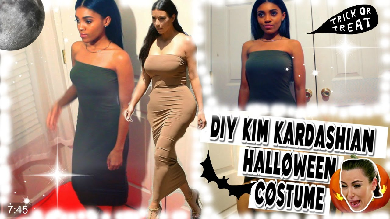 DIY | Kim Kardashian Halloween Hair, Makeup, Outfit Costume ...