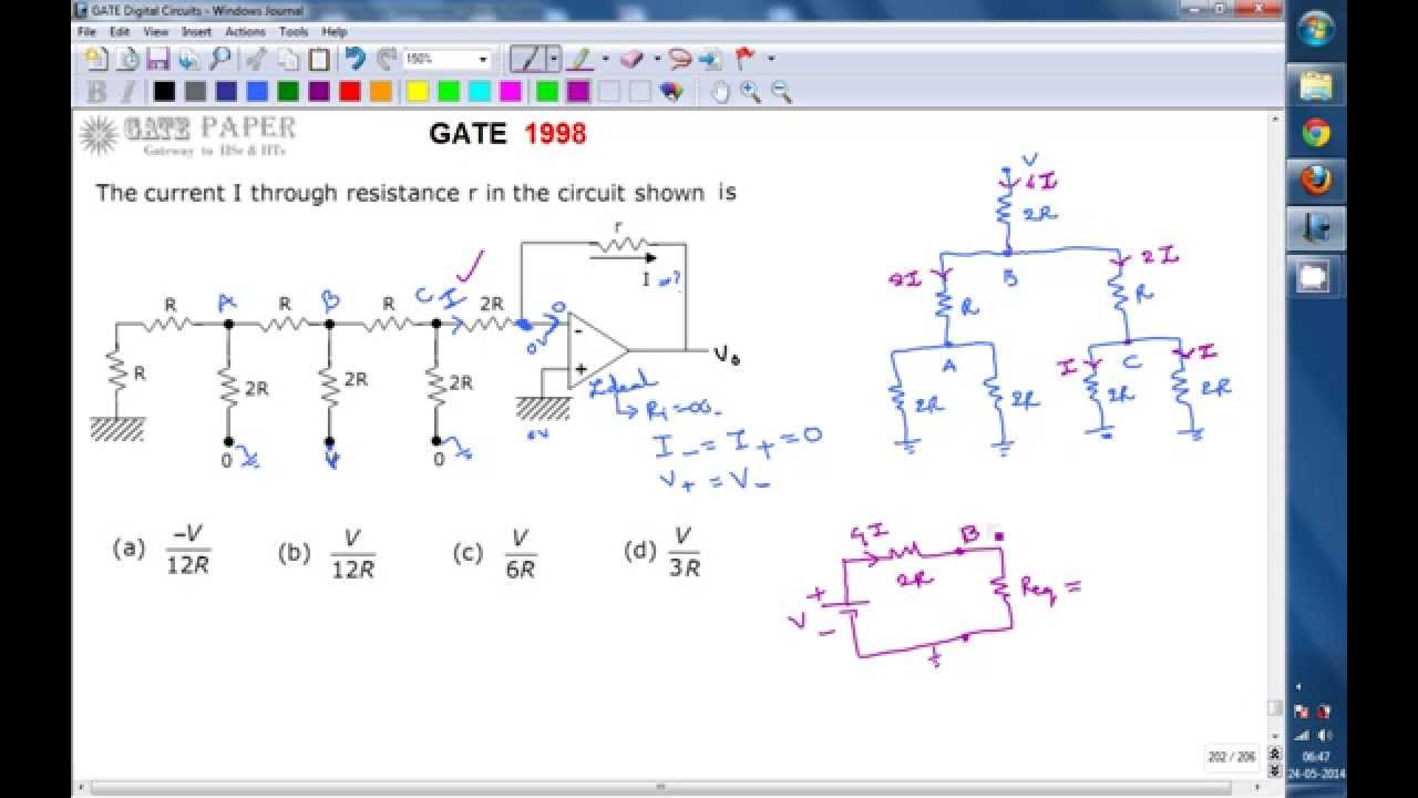 Gate 1998 Ece The Current I Flowing Through A Resistor R