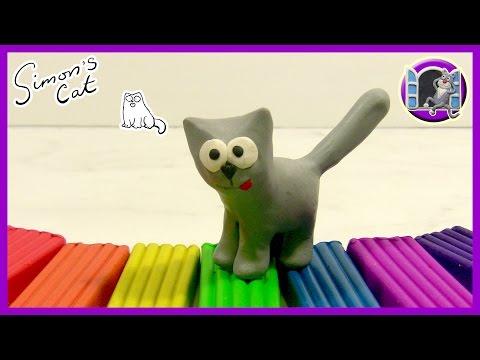 Как слепить котика из пластилина