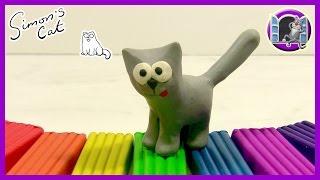 КОТ САЙМОНА ИЗ ПЛАСТИЛИНА. Лепка из пластилина для детей | Видео Лепка