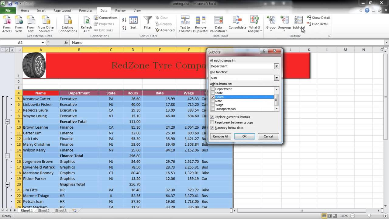 How to insert automatic subtotals in excel youtube ibookread PDF