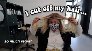 IMPULSIVELY CUTTING MY HĄIR OFF *lots of ragrets*