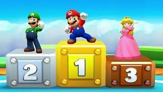 Mario Party Star Rush MiniGames - Mario Vs Luigi Vs Yoshi Vs Daisy (Master Difficulty)