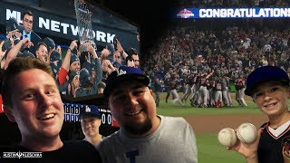 I WAS AT A WORLD SERIES CLINCHING GAME! | Kleschka Vlogs