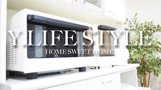 【キッチン】食器棚の収納と白いキッチン家電