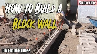 How to Build & Setup a Block wall Foundation Part 3