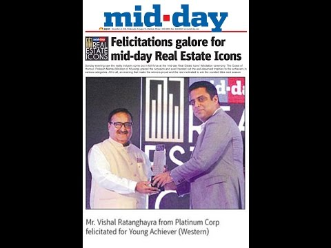 "Mid Day Real Estate Icons Awards 2016  - ""Platinum Corp"" Best Affordable Project in Western Mumbai."