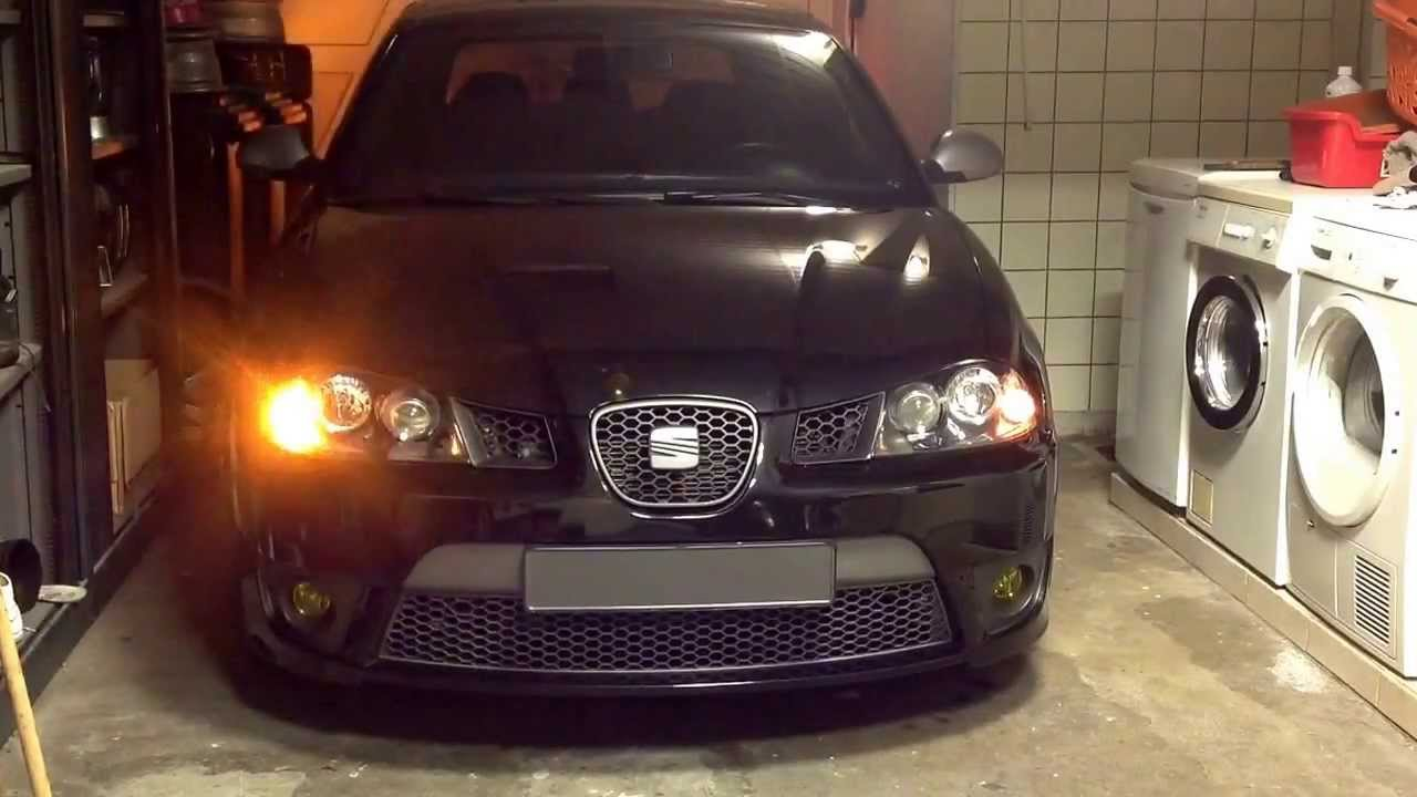 Seat Ibiza 6l 1 8 20vt Fr Us Lights Running Lights Youtube