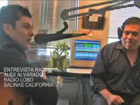 ALEX ALVARADO EN RADIO LOBO SALINAS CALIFORNIA  DIC 2009