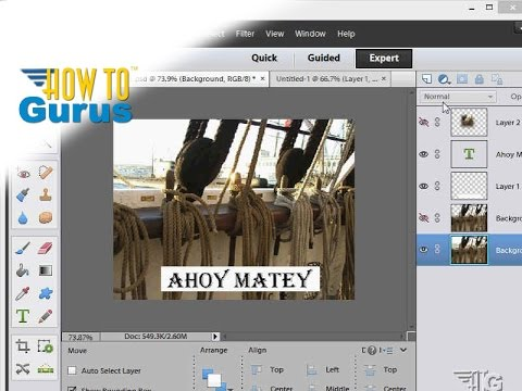How to add and edit text in adobe photoshop elements tutorial.