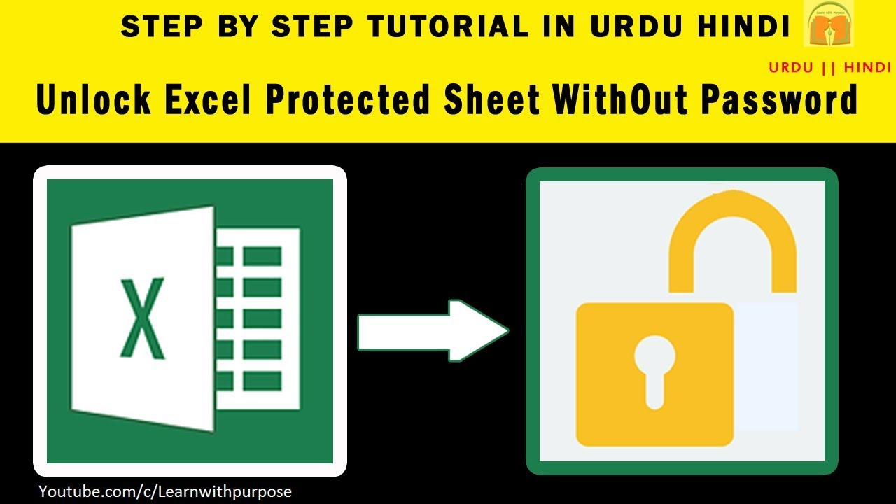 How to UnProtect Unlock Excel Password Protected Sheet 20 FREE