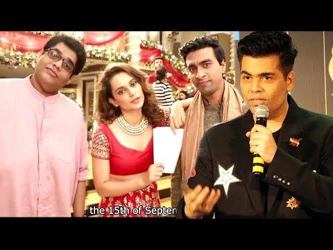 Karan Johar's Reply To Kangana Ranaut's AIB Spoof Of Kabhie Khushi Kabhi Gham - Bollywood Diva Song