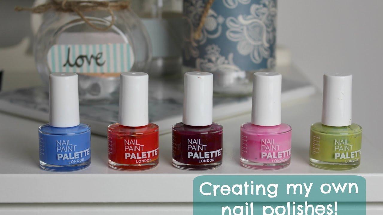 Making my own nail polishes! | Emma Grace - YouTube