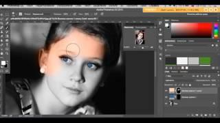 Как раскрасить черно-белое фото в Photoshop(Простой и удобный способ сделать черно-белое фото - цветным., 2016-08-13T14:18:30.000Z)