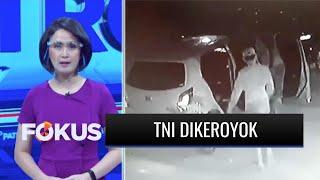 Terekam CCTV, Dua Anggota TNI di Gorontalo Dikeroyok Sekelompok Orang hingga Babak Belur | Fokus