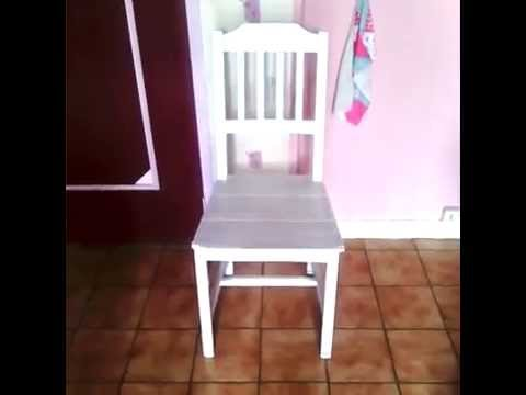 Renover repeindre une chaise ik a diy tuto youtube - Renover assise chaise ...