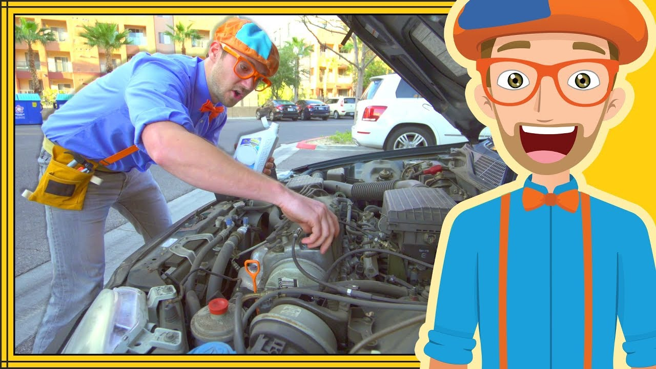 Blippi The Handyman Videos For Kids Fixing Things With Tools How To Turn Your Truck Into A Generator Family