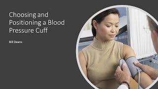 choosing positioning a blood pressure cuff