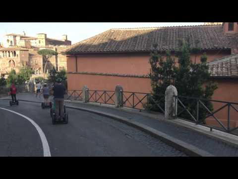 The Roman Forum from Capitoline Hill on a Segway
