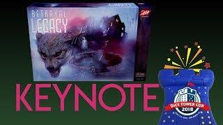Betrayal Legacy Keynote by Rob Daviau - Dice Tower Con 2018