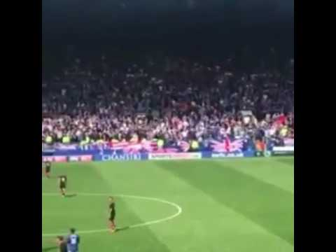 "Rangers fans at Sheffield Wednesday singing ""Bought a flute for 50 pence"""