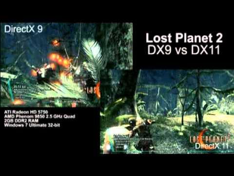 Lost Planet 2 - DirectX 9 vs DirectX 11 Comparison View
