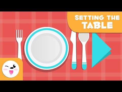 Learning How to Set the Table - Vocabulary for Kids