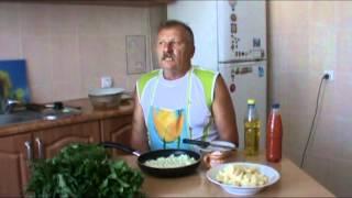 Настоящий  зеленый украинский борщ  A real green Ukrainian borsch