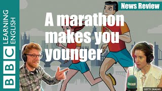 Running a marathon makes you 'younger': BBC News Review