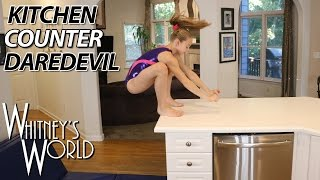 Repeat youtube video Kitchen Counter Daredevil | Whitney Bjerken Kitchen Gymnastics