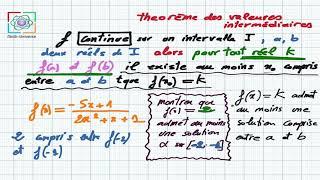 Continuité : Théorème des valeurs intermédiaires (TVI)