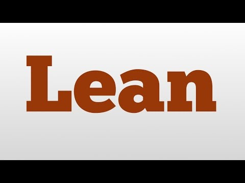 Lean meaning and pronunciation