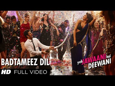 Badtameez Dil Lyrics in Hindi from Bollywood movie Yeh Jawani Hai Deewani
