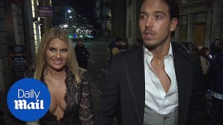 Danielle Armstrong's plunging neckline dazzles at 'Bizarre' party - Daily Mail