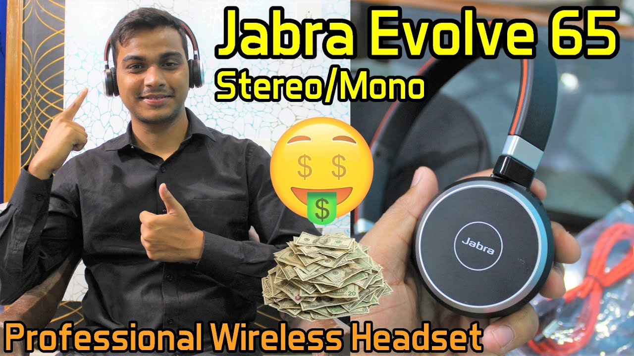 Jabra Evolve 65 Stereo Mono Professional Wireless Headset Review Hindi Youtube