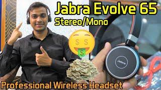 Jabra Evolve 65 Stereo Mono Professional Wireless Headset Review Hindi