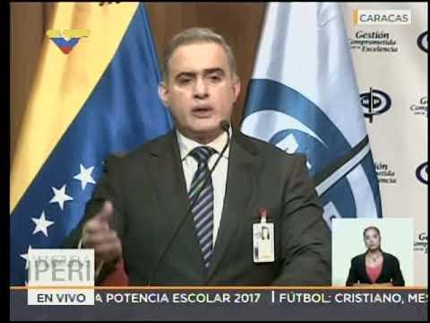 Fiscal Tarek William Saab, rueda de prensa sobre red de extorsión de Germán Ferrer